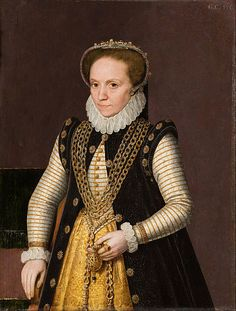 Portrait of an unknown French noblewoman  By an unknown artist, 1560. Hallwyl Museum.
