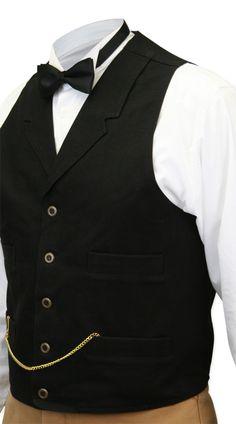 Classic Canvas Work Vest - Black