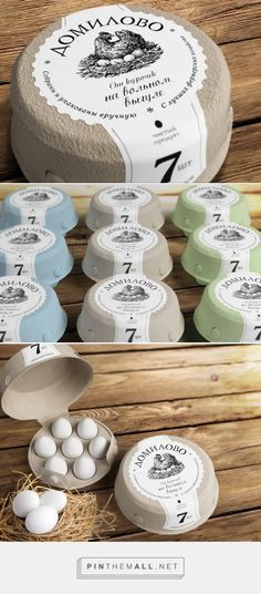 Domilovo eggs packaging designed by Getbrand - branding agency​ - http://www.packagingoftheworld.com/2015/11/domilovo.html