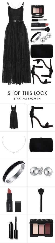 """""""Untitled #4035"""" by natalyasidunova ❤ liked on Polyvore featuring Valentino, Steve Madden, Cartier, Sergio Rossi, Bling Jewelry, Smashbox, NARS Cosmetics and Bobbi Brown Cosmetics"""