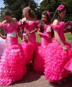 Wedding Dress: Irish Traveler Wedding Dresses Design With The Color Pink