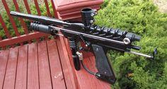 John's Ripper Autococker body turned into a Sniper pump gun.