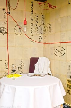 Pierre Gagnaire restaurant in Paris now features an exclusive, private dining experience: the 'chef's table'...