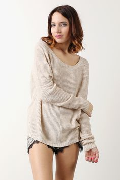 neutral slouchy sweater