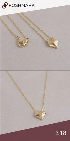 "NEW! Fox charm necklace chain gold This simple and very adorable fox pendant necklace is gold plated and measures 18"". BUNDLE to receive discount pearl street Jewelry Necklaces"