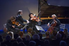 Chamber music festival at Swarovski Kristallwelten: Music in the Giant 2016 with Leif Ove Andsnes (piano), Christian Tetzlaff (violin), Tabea Zimmermann (viola) and Clemens Hagen (violoncello) Stars Play, Zimmerman, World Star, Classical Music, Piano, Swarovski, Christian, Concert, Recital