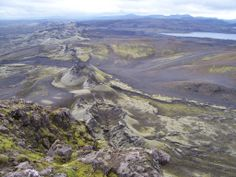 The magnificent Laki craters, in the South highlands of Iceland