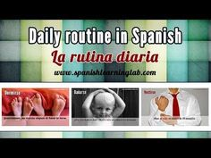 """Daily routine in Spanish: activities & reflexive pronouns - La rutina diaria. Learn how to make sentences about your daily routine in Spanish. This video shows some common everyday activities in Spanish and how to use Spanish reflexive verbs and pronouns in sentences and questions about your """"rutina diaria"""". Esperamos que te sea útil :)"""