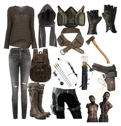 """""""Zombie Apocalypse/Dystopian"""" by elshaffer ❤ liked on Polyvore featuring Helmut Lang, H&M, Citizens of Humanity, women's clothing, women, female, woman, misses and juniors"""