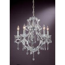 View the Laura Ashley MXX818 Eloyse 5 Light Chandelier at LightingDirect.com.