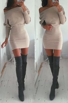 Solid Color Sexy Strapless Bodycon Dress