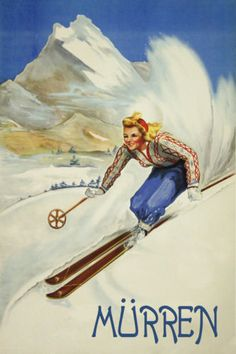 WHITEFISH MONTANA SPEED DOWNHILL SKIING WINTER SPORT FUN VINTAGE POSTER REPRO