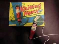 Knitting Nancy... you could make a circular rug quite fast.