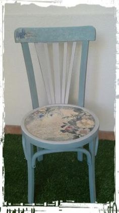 Cool Furniture Inspiration – My Life Spot Diy Furniture Easy, Decoupage Furniture, Chalk Paint Furniture, Art Furniture, Furniture Makeover, Style Lounge, Painted Cottage, Painted Chairs, French Country Decorating
