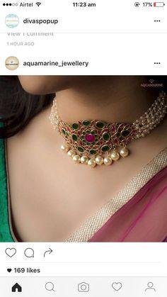 Remarkable Vintage Jewelry Making Ideas Wondrous Cool Tips: Jewelry Indian Choker body jewelry rave. Aquamarine Jewelry, Diamond Jewelry, Gemstone Jewelry, Bulgari Jewelry, Seashell Jewelry, Resin Jewelry, India Jewelry, Schmuck Design, Necklace Designs
