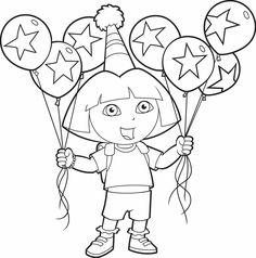 A4 Kleurplaten Dora.19 Best Pobarvanka Images Dora Coloring Dora The Explorer