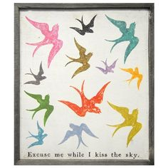 Sugarboo Designs Art Print Excuse Me While I Kiss The Sky from @LaylaGrayce #laylagrayce #sugarboo #vintage #sign