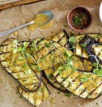 Grilled Eggplant with Mustard Vinaigrette