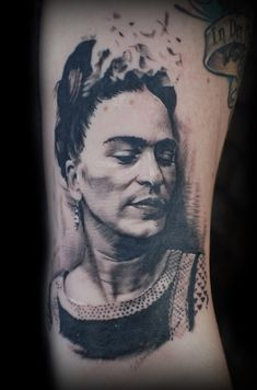 41 Incredible Tattoos Inspired By Works Of Art - Frida Kahlo was a huge inspiration to me in 2012.  If I were going to get another tattoo, I'd consider something like this.