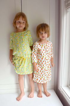 PATTERN FOR BATEAU NECK DRESS FOR LITTLE GIRLS