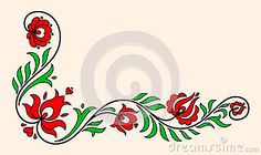 Illustration about Traditional Hungarian floral motif with stylized leaves and petals. Illustration of leaves, folk, pattern - 55331255 Hungarian Embroidery, Arte Popular, Bergen, Floral Motif, Embroidery Patterns, Folk Art, Stencils, Diy And Crafts, Cross Stitch
