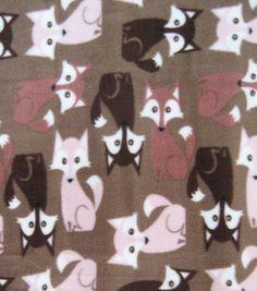 Fleece foxes :) #fabric