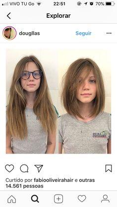Cabelos Medium Hair Cuts, Short Hair Cuts, Medium Hair Styles, Short Hair Styles, Haircuts For Long Hair, Hairstyles With Bangs, Should Length Hair Styles, Mid Length Hair, Hair 2018