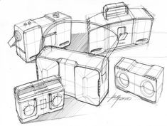 Sketches of boomboxes by industrial designer Spencer Nugent Line Sketch, Sketch A Day, Radio Drawing, Sketch Design, Bag Design, Industrial Design Sketch, Boombox, Design Process, Inktober