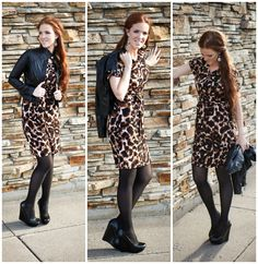The Freckled Fox : What I Wore // Leather and Leopard
