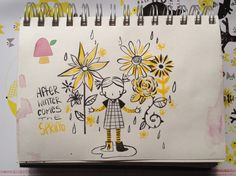 Springtime sketch - Sarah Bester Illustration