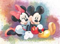 Mickey & minnie mouse walt disney - it all started with a dream & a Mickey E Minie, Mickey And Minnie Love, Mickey Mouse Art, Mickey Mouse Wallpaper, Disney Mouse, Mickey Mouse And Friends, Cute Disney Wallpaper, Images Of Mickey Mouse, Minne