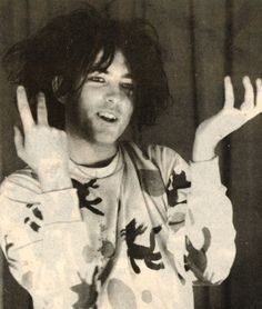 Robert Smith 1984, wearing a jumper a fan made for him :)