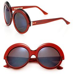 CUTLER AND GROSS 56MM Round Sunglasses