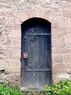 Stone arch and old door