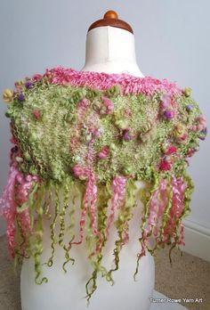 Hand Spun Hand Knitted Shrug by TurnerRoweYarnArt on Etsy