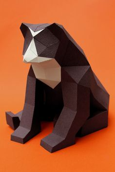 Geometric Papercraft Animals by Guardabosques