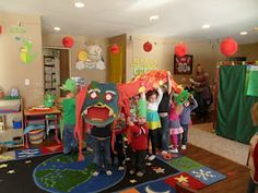 Chinese New year celebration in preschool. We did something just like this last year. Since it was the year of the dragon. :)