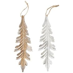 Christmas Tree 2012 - Gold/Silver Metal Leaf Ornament Assorted @ Target
