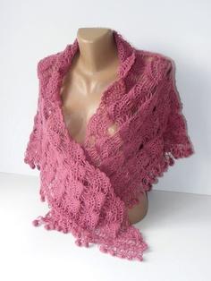 crochet shawlpurplewoman shawlwoolmohairsoftwarmmothers by seno, $75.00