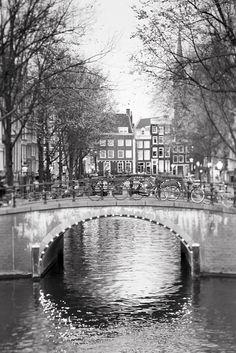 Sparkly bridge in Amsterdam.