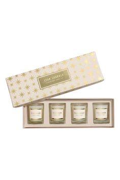 4 kpl tuoksukynttilöitä - Valkoinen/Star Sparkle - Home All   H&M FI 1
