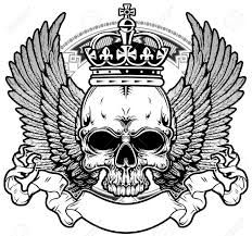 Resultado de imagem para draw tattoo skull and crown