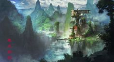 ArtStation - Cliff Village, changha lee