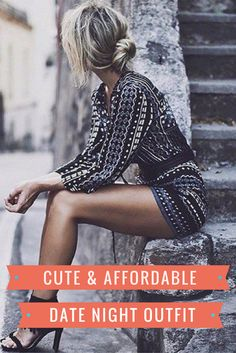 Looking for an inexpensive date night outfit?? Check out this stylish romper in a classy geometric print, featuring 3/4 sleeves and lace-up V-neck. This sexy romper is inexpensive, stretchy/comfy, and fun! You can style this several ways to create an easy, cute outfit for a night out. Accessorize with a wide or skinny belt to create different looks. A wide sash or obi belt would really enhance your waistline!