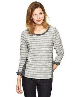 Stripe reverse terry pullover | Gap