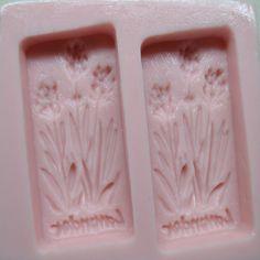 Lavender Rectangular Soap 2 Cavity Mold Sizes : Length 150 mm x Width 124 mm x Height 27 mm