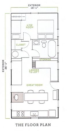 Image result for jessica helgerson tiny house floor plan