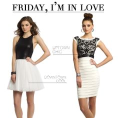 Camille La Vie Black and White Short Cocktail Dresses - start your Friday night in hot party style