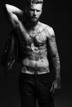 Keno Weidner Flaunts His Tattoos for Bowen Fall/Winter 2014 Campaign Photos…