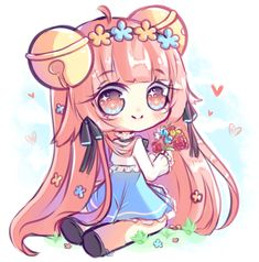 Small gift for Hyanna-Natsu I just want to thank you for being such an inspiration to me and just. Kawaii Neko Girl, Chibi Girl, Kawaii Chibi, Kawaii Anime, Hyanna Natsu, Anime Girl Pink, Chibi Characters, Cute Anime Chibi, Cat Doll